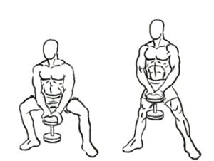 Most effective dumbbell leg workout Dumbbell Sumo Squats