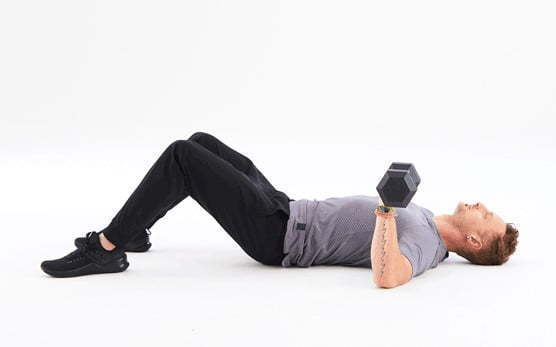 Dumbbell triceps workouts
