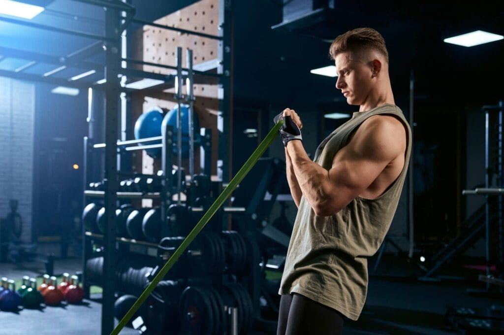 How To Do Bicep Curls With Resistance Band?