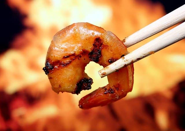 High protein low-calorie food, shrimp, also ideal for muscle growth