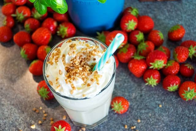 A homemade protein shake can be super effective if you're trying to gain weight.