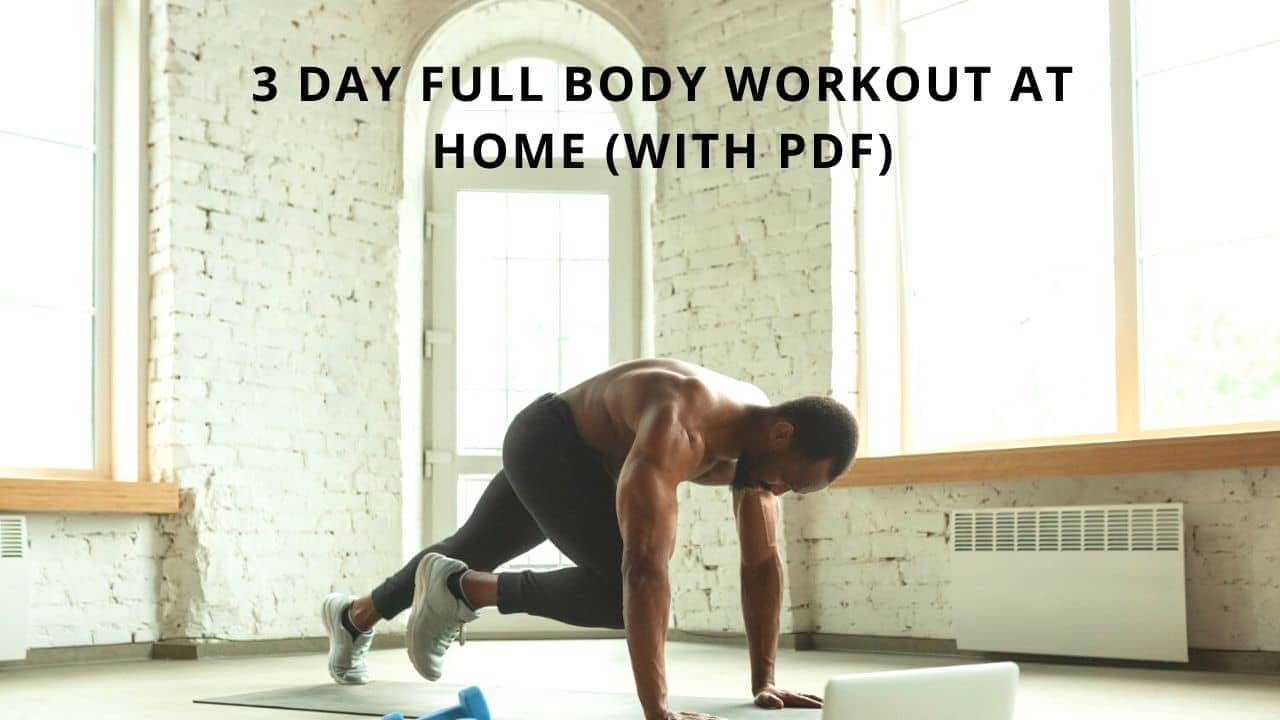 3 Day Full Body Workout At Home