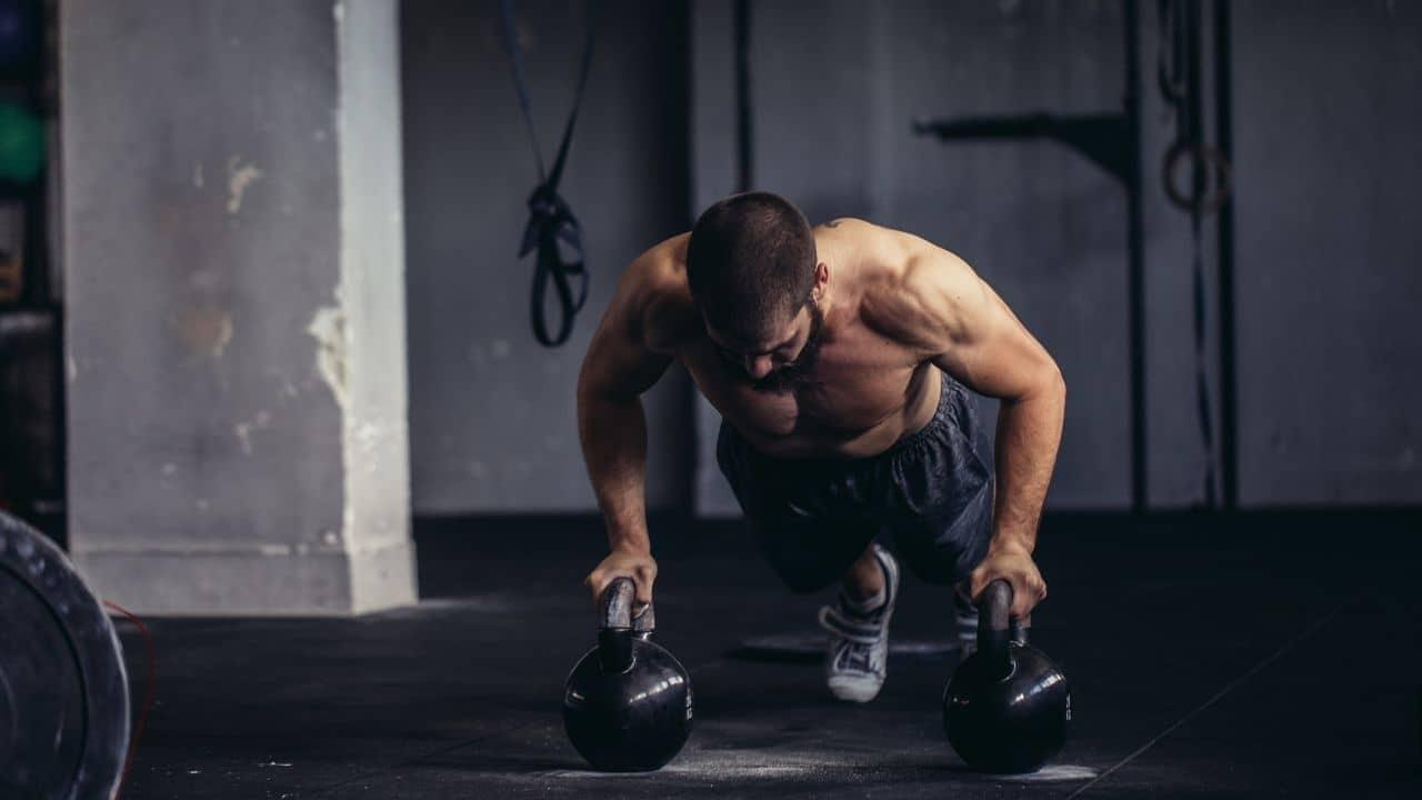 Kettlebell Pushup workout