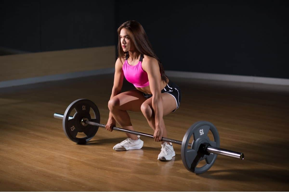 Home workout routine with barbell